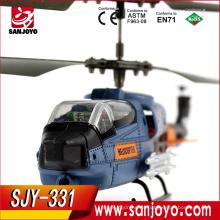 2016 alta calidad 3.5 ch helicóptero al aire libre con 2.4g controlador remoto rtf helicóptero