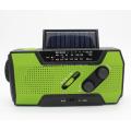 Multi-function Solar Flashlight Radio Alarm
