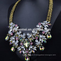2017 mode vacances turquoise acrylique larme perles frange cristal collier