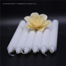 Différentes tailles de décoration de mariage bougie blanche parfumée