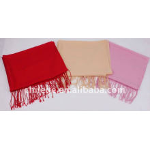 winter women plain wool scarf shawl pashmina