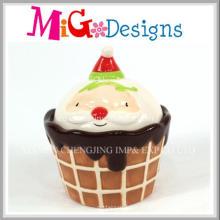 Caja de cerámica vendedora caliente de la torta de la taza de la decoración