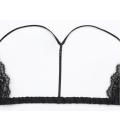 Летние удобные беспроводные атласа и кружева дамы передняя открыть красивый треугольник сексуальный бюстгальтер дизайн бюстье