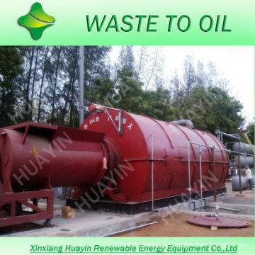 XinXiang HuaYin 10/12 toneladas de residuos / planta de reciclaje de plástico usado para aceite con 6 sistemas de funcionamiento de plantas de demostración en Rumania