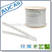 Aucas 8 núcleos 4 par 25 pares blindados cat6 lan FTP cable 790 retorcido red FCC / ROHS / CE