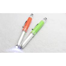 Novo design LED Light Pen Touch Pen para presente de Natal