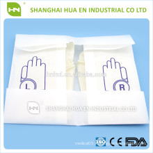 Одноразовые хирургические латексные перчатки, полученные в Китае