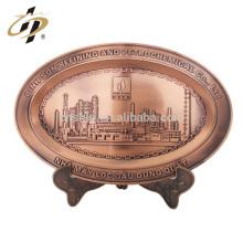 La aduana barata promocional de la aleación del cinc del metal del cinc de la ciudad que construye el edificio grabó la placa del recuerdo
