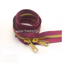 Supply for Shoes Zipper Brass No. 5 40 Inch Zipper for Bag supply to Indonesia Exporter