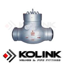 Tipo de oscilación de la válvula de retención del sello de presión