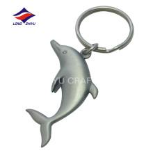 Llavero lindo del delfín mate del recuerdo del níquel