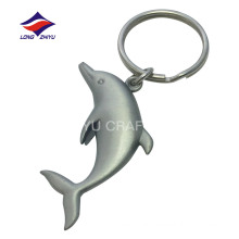Customized matte nickel souvenir cute dolphin keychain