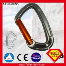 25KN D Shaped Taiwan Screw Lock Aluminum Carabiner With CE