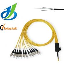 Câble optique de fibre de noyau un de PVC de mode unitaire de haute qualité