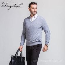 Branded Wholesale V Neck Handmade Knitting Pullover Sweater For Business Men