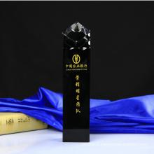 Black K9 Crystal Trophy for Business Gift