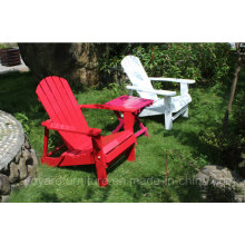 New Wood Leisure Chair Dobrável Adirondack High Back Outdoor Garden Patio Mobiliário de gramado