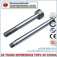 Haste de pistão de cromo rígido para cilindro hidráulico