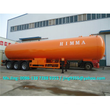 Biggest capcity 59.52 m3 lpg tanker trailer, tri-axle lpg propane transport semi trailer on sale in Nigeria