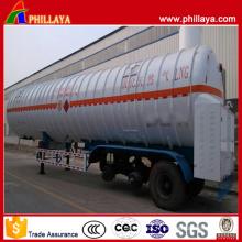 BPW 3 essieux 55.6m3 cryogénique liquide de bateau-citerne de GNL