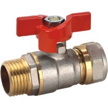 Ded Aluminum - Plastic Pipe Ball Valve with Butterfly (YD-1042)