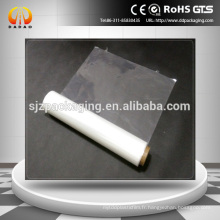 Film rétractable en PVC blanc pour une application d'étiquette