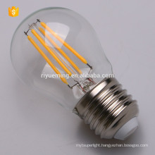 LED G45 Filament Bulb, Dimmable, Vintage Edison Lamp, 200 lumen, Warm White Glow, Omnidirectional, E27 Base