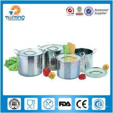 Vente chaude 8 pcs en acier inoxydable stock profond pot, pot de ragoût de soupe