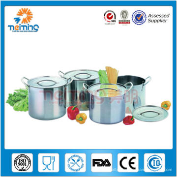 hot sale 8pcs stainless steel deep stock pot, soup stew pot