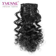 Grampo de cabelo humano real superior de 100% em extensões do cabelo