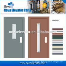 Halbautomatische Schiebetür, manuelle Tür für Fahrgastaufzug