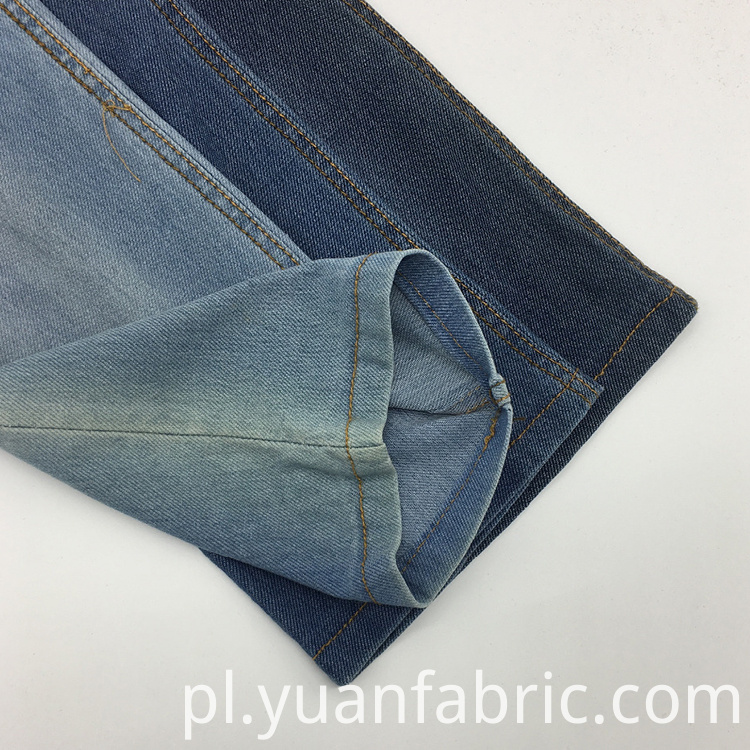 Tc Knitted Denim Peach Twill Cotton Fabric