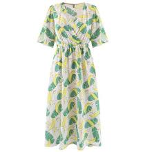Custom Wholesale Summer Elastic Waisted Boho Women Party Casual Dress
