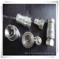 Connecteur pneumatique à vanne en acier inoxydable