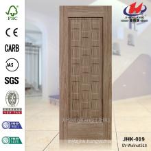 JHK-019 Produce MDF Depth Size Design Dark Walnut HDF Lattice Turkey Door Panel                                                                         Quality Assured