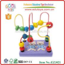 Juguetes de madera para niños Mini Rack Beads