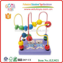 Children Wood Toys Mini Rack Beads