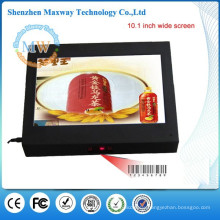 10.1 inch lcd advertising player with barcode reader