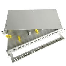 Panneau de configuration en fibre optique à montage en rack de 19 pouces