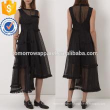 Черное Миди платье без рукавов платье Производство Оптовая продажа женской одежды (TA4056D)