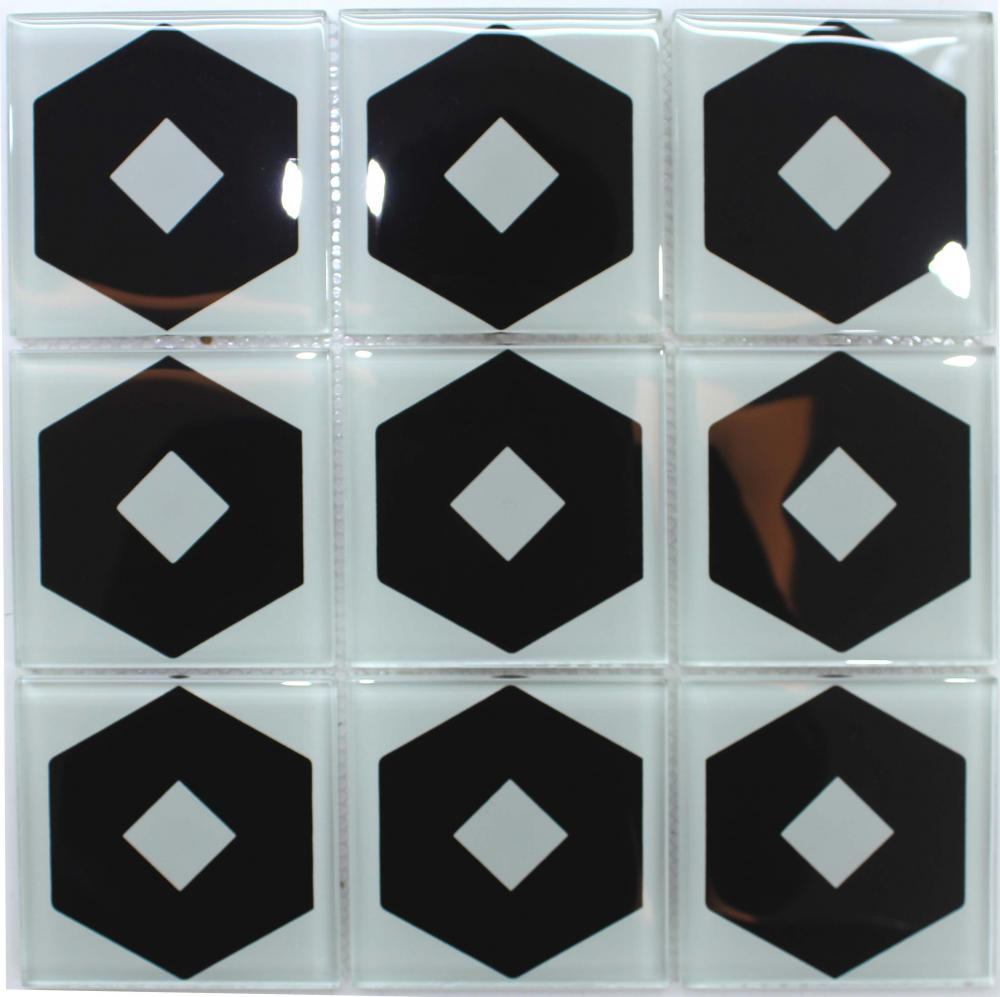 Simple Pattern Crystal Glass Mosaic