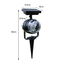 Outdoor Solar Colorful Revolving LED Projector Lamp