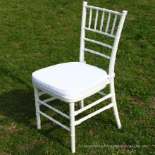 Белый цвет стул Тиффани для венчания Ourtdoor