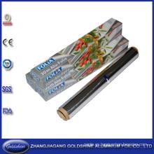 Rollos gruesos de papel de aluminio para uso en el hogar
