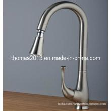 Fashionable Nickel Brushed Kitchen Sink Mixer Tap (Qh0760s)