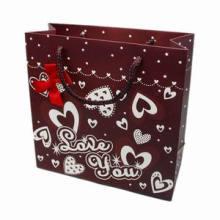 Impressão personalizada Spot UV Gloss Paper Bag com alça