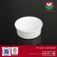 Round Plastic Food Container (AB 1008 white)