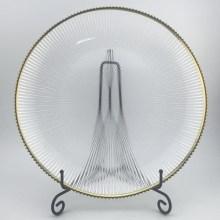 Glasplatte mit Goldrand überziehen