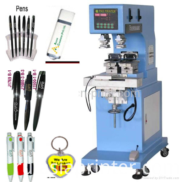 2 color pen pad printing machine