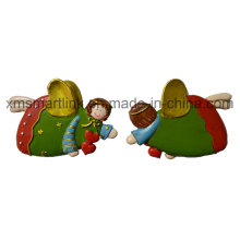 Резина Резьба Рождественский ангел Украшение Ремесла